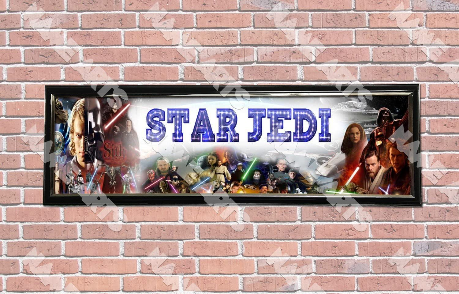Personalized Customized Star Wars Name Banner Wall Decor Poster with Frame