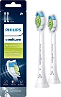 Genuine Philips Sonicare Diamondclean Replacement Toothbrush Heads, HX6062/65, Brushsync Technology, White 2 pk