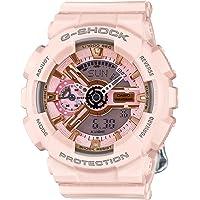Casio 卡西欧 G - SHOCK 女式手表 金和粉色表盘 粉色树脂石英 gmas110mp-4a1