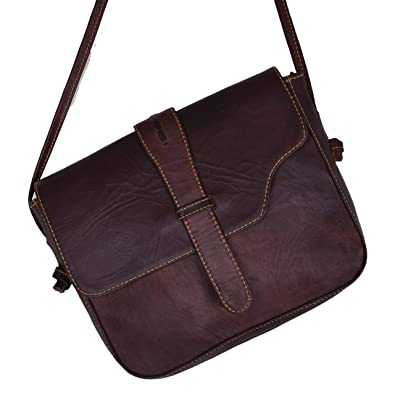 9addbd997dcd Image Unavailable. Image not available for. Color  Handmade World Genuine Leather  Purse Women Shoulder Bag Crossbody Satchel Ladies gypsy Tote Diaper Purse