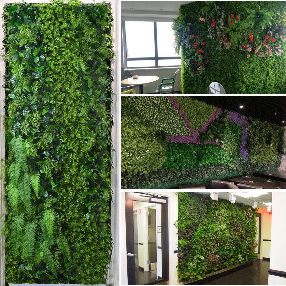 Beeindruckend Wandgarten Innen Referenz Von Justoyou Efeu-hecke, Künstlicher Sichtschutz-zaun, Buchsbaum-panel Für Wandgarten,