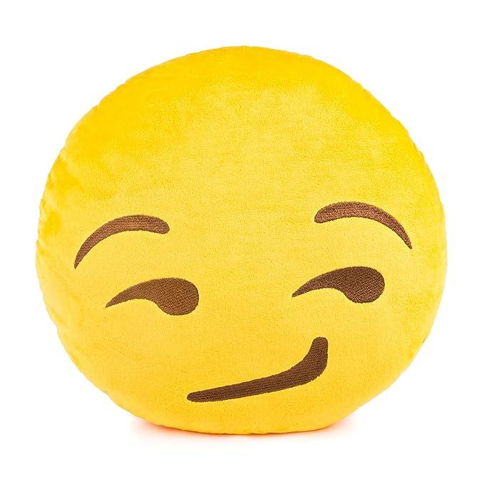 Amazon.com: throwboy Emoji Pillows - Smirk: Home & Kitchen