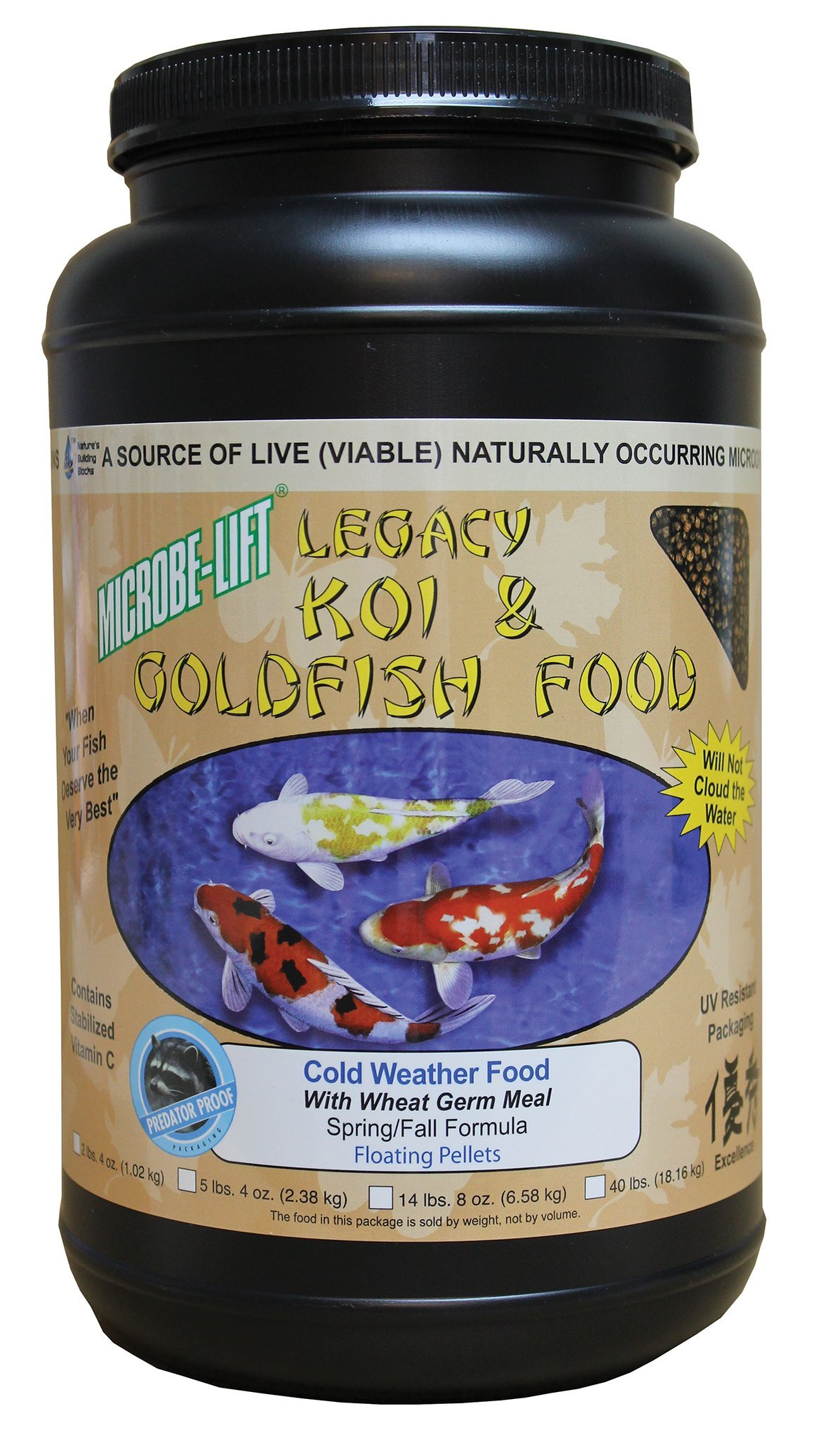 Eco Labs MLLWGMD Wheat Germ Koi and Goldfish Food, 2.4 -Pound