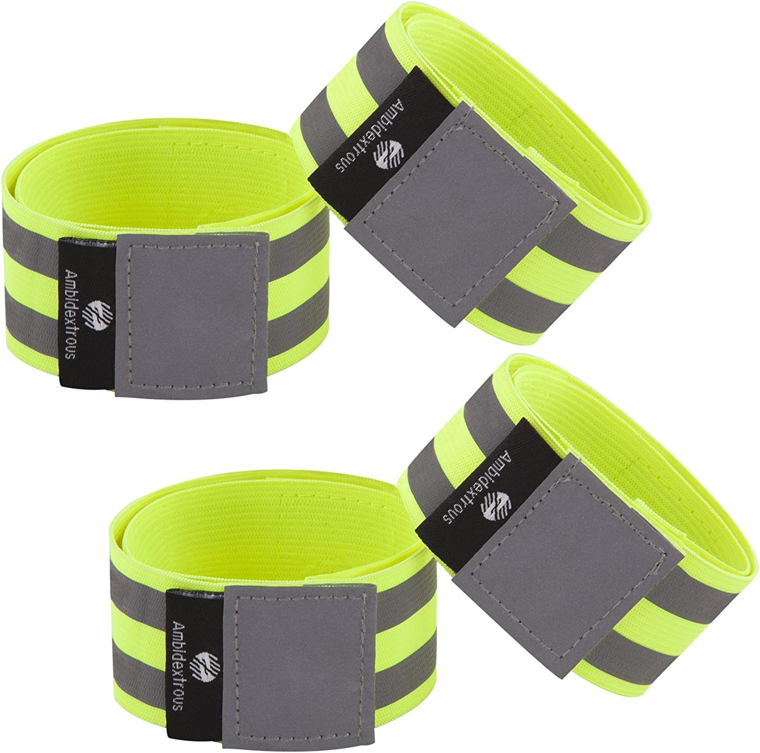 Reflective Bands for Men and Women   Reflectors for Runners, Cycling, Walking   Set of 4 Reflective Ankle Bands, Armbands, Wristbands   Reflector Tape Providing High Visibility Safety Apparel : Sports & Outdoors