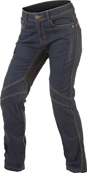 34L Trilobit Motorrad Damen Jeans,schwarz