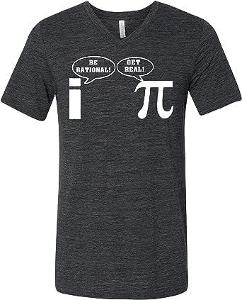Pi Be Rational 3005 Premium V-Neck T-Shirt Slogan Humorous T