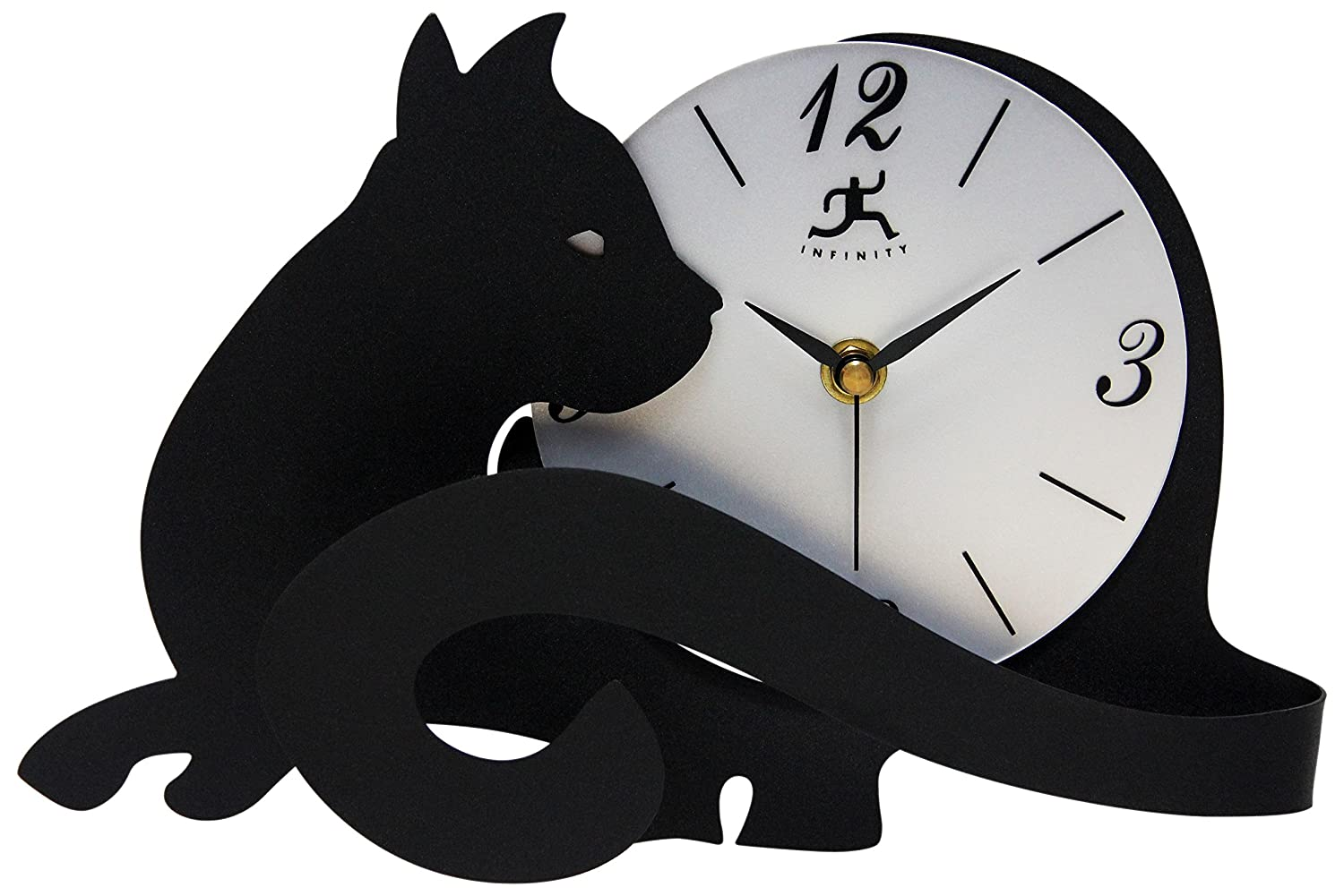 Amazon infinity instruments cat lovers table top clock with amazon infinity instruments cat lovers table top clock with adjustable tail home kitchen amipublicfo Gallery