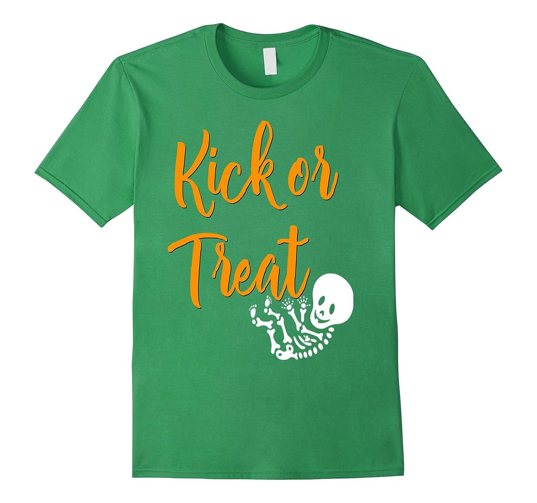 cd53c23e7dc16 Kick Or Treat Halloween Pregnancy Shirt Pregnant Mom Baby – Hntee.com