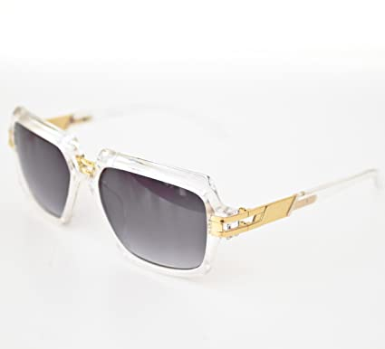 c9c907176601 Image Unavailable. Image not available for. Colour  New Mens Retro Vintage  Cazal 6004 Style Clear Frame Sunglasses Shades - Hip-Hop 80 s