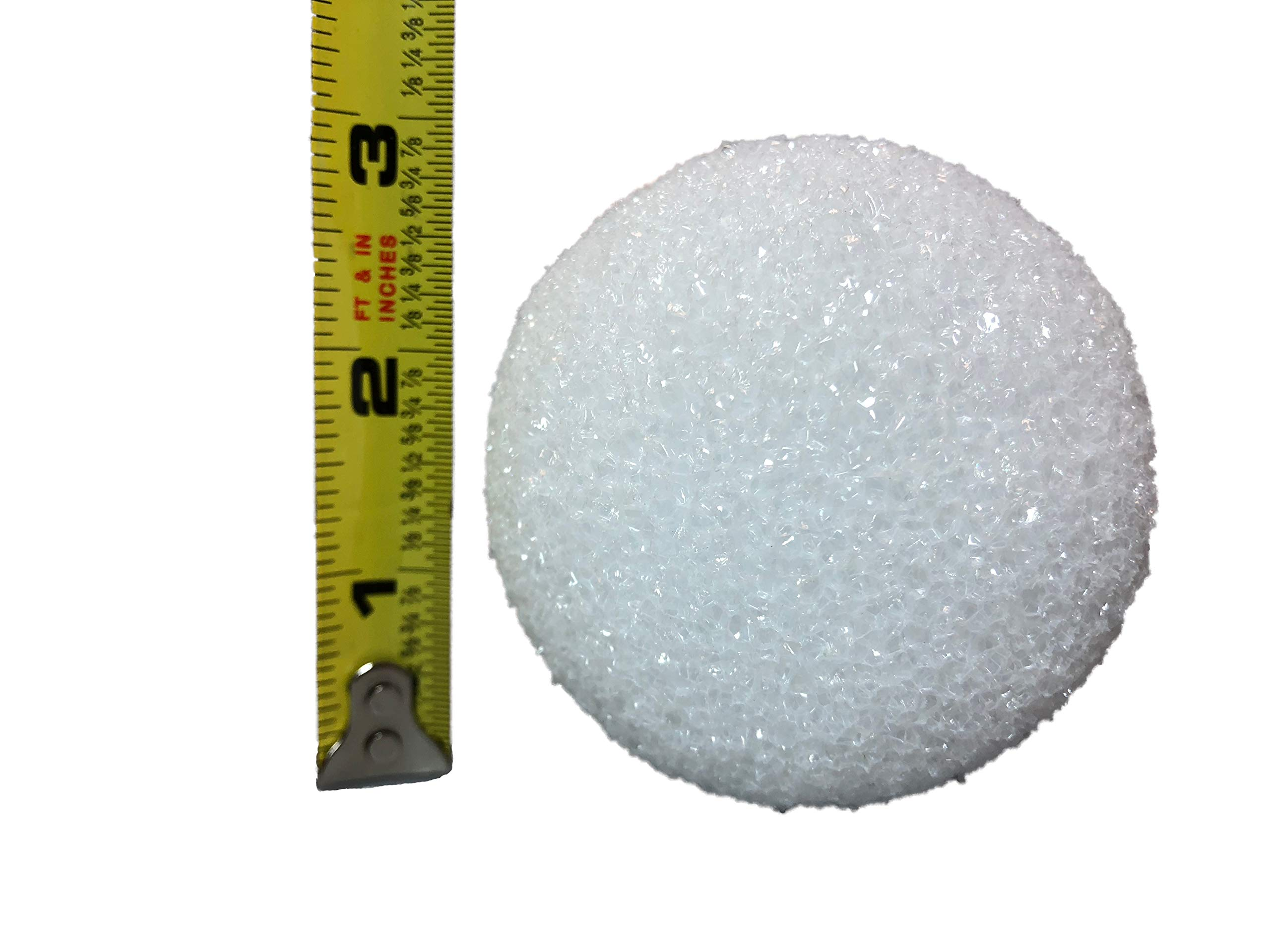White Styrofoam Balls for Arts and Crafts (12 Balls) - by LACrafts (3 Inch)