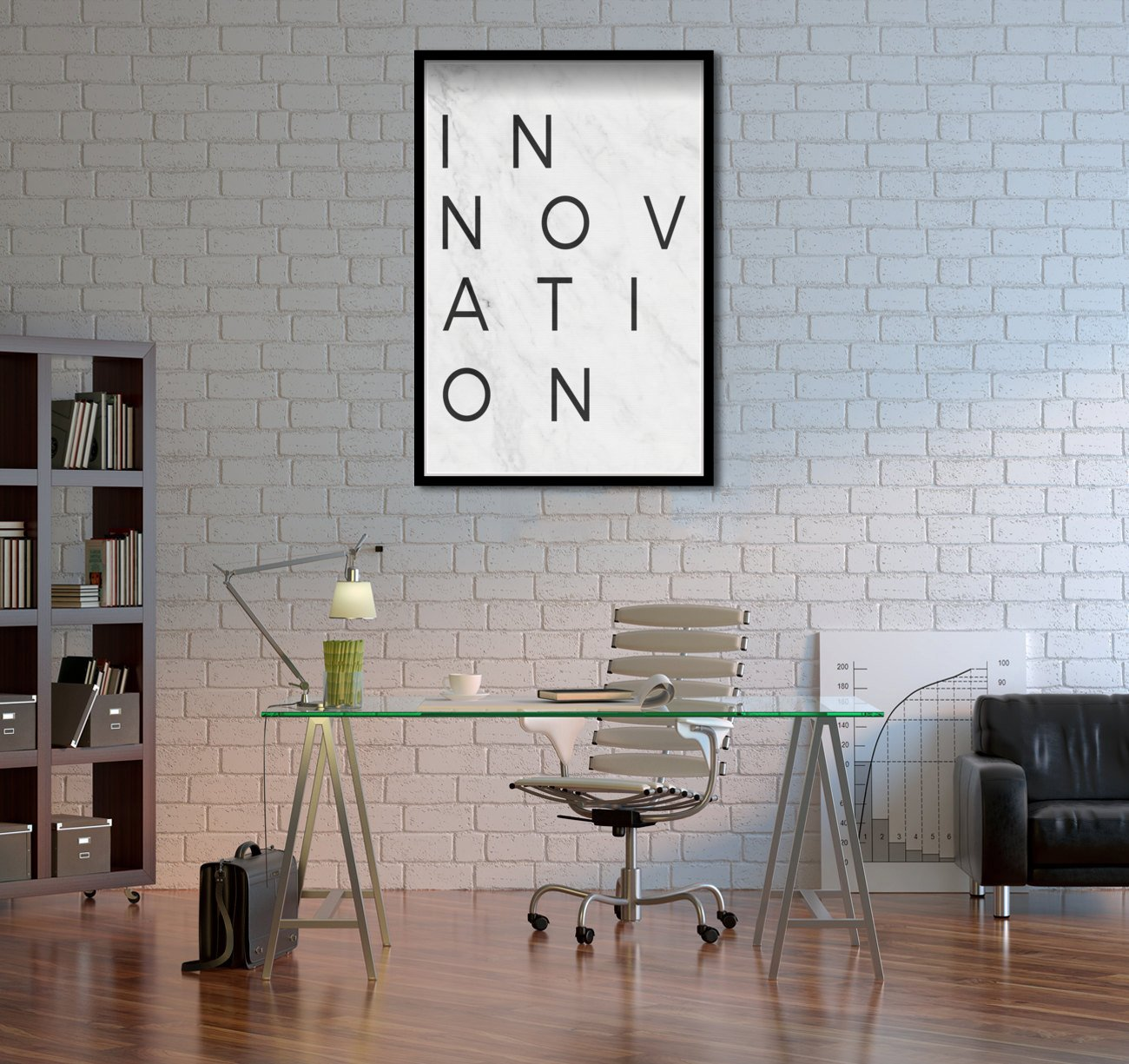 Oliver Gal Innovation Minimalist Marble Paper Contemporary Canvas Wall Art Print for Home Decor White 24 x 36