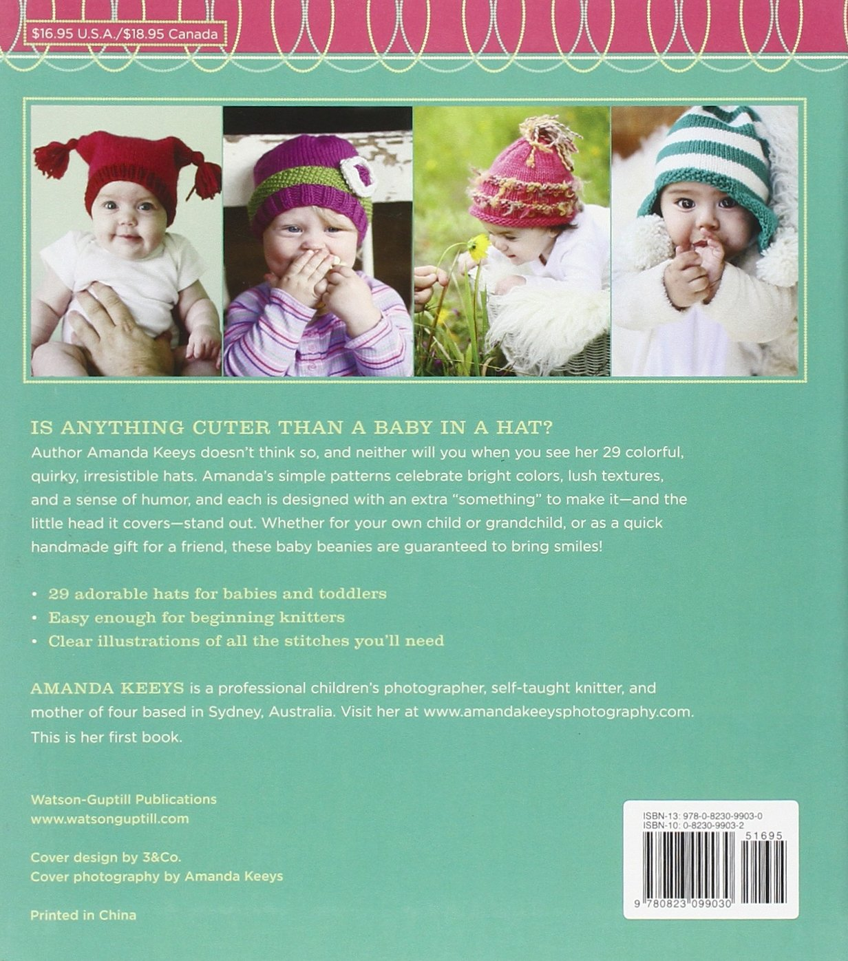 Amazon.com: Random House Baby Beanies: Happy Hats to Knit for Little ...
