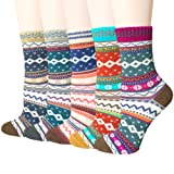 Amazon Price History for:5 Pairs Womens Vintage Style Colorful Soft Cotton Casual Crew Socks by Amandir