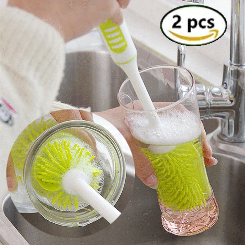 Flaschenbürste, Tassebürste, Reinigungsbürsten Cup Pinsel sauber ohne Kratzer, 2 Stück(Grün) 2 Stück(Grün) FU ZHOU HONG YUN