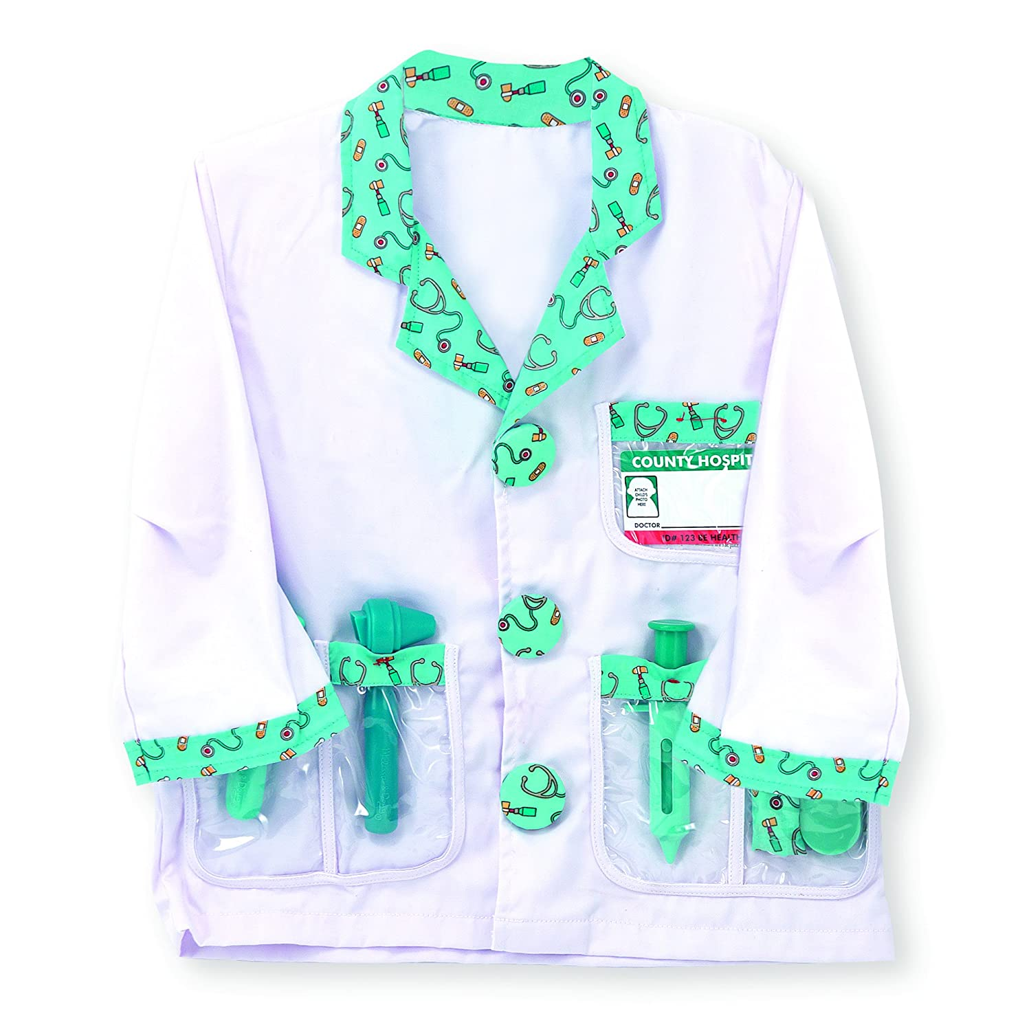 Melissa Doug Personalized Doctor Role Play Costume Set