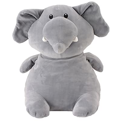 "Animal Adventure | Squeeze with Love | Super Puffed Plush | Stud Muffins | Jumbo Grand Size | Elephant, Gray, 15"" (58624): Toys & Games"