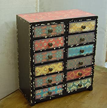 super popular 8ed51 6cc1c Small vintage style mini set of drawers