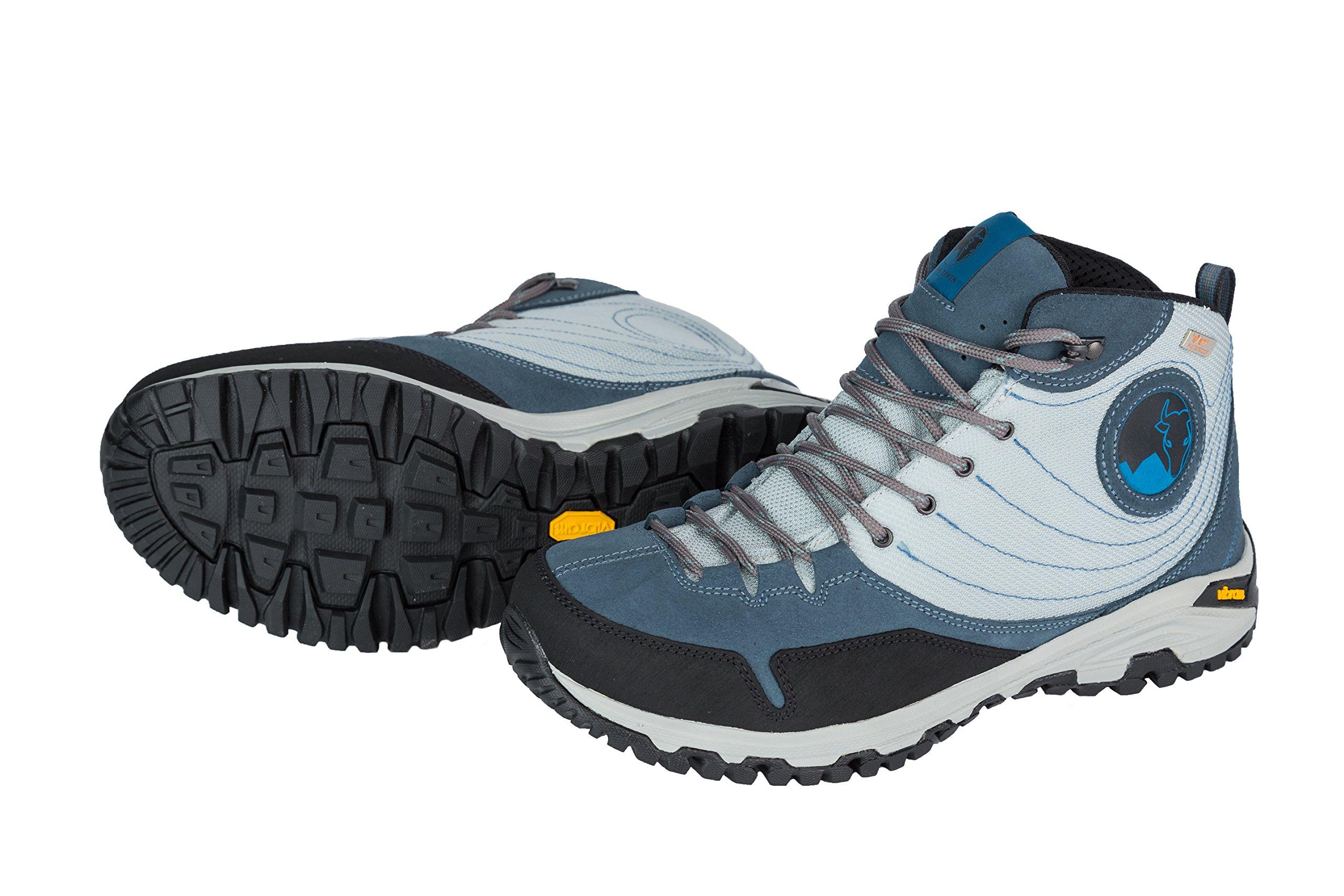 Mishmi Takin Jampui Mid Event Waterproof Light & Fast Hiking Shoe (EU 41/US W 9.5/US M 8.5, Blue Jean)