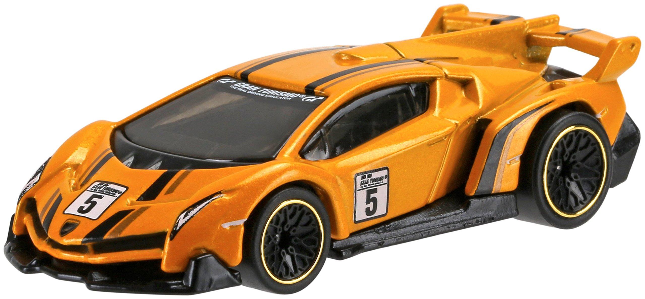 Hot Wheels Retro Entertainment Gran Turismo Lamborghini Veneno Die-Cast Vehículo Escala 4/5, Naranja