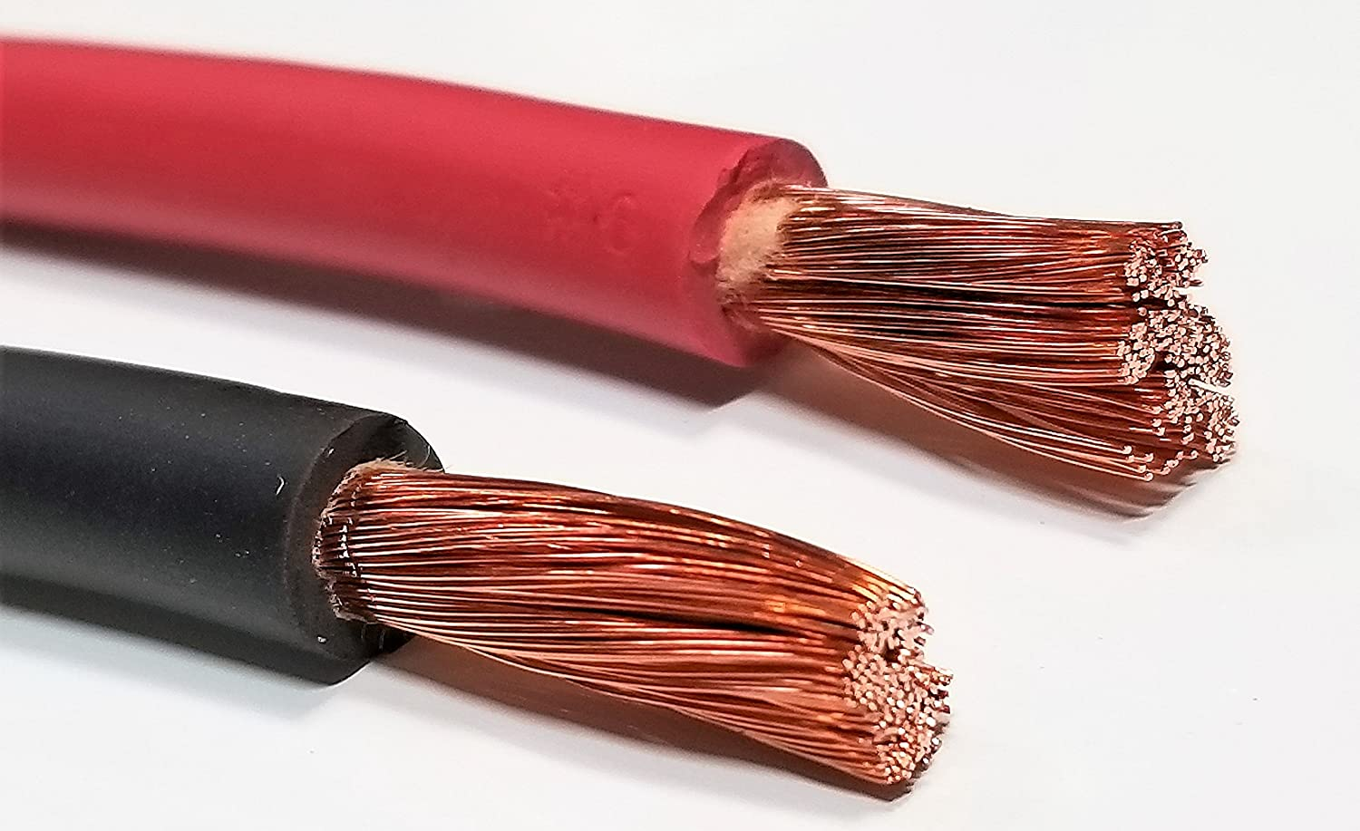 6 Gauge 6 AWG 50 Feet Red Welding Battery Pure Copper Flexible Cable Wire Inverter Car Solar RV