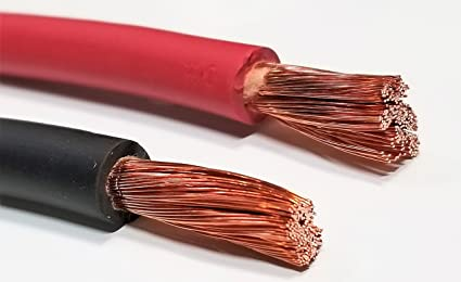 6 Gauge 6 AWG 20 Feet Red Welding Battery Pure Copper Flexible Cable Wire RV Solar Car Inverter