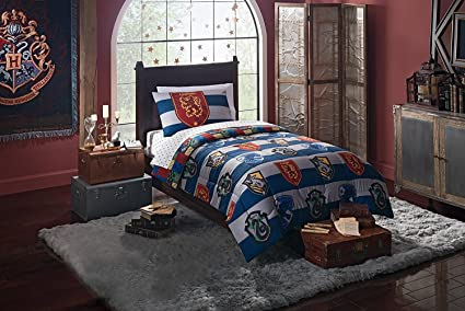 Harry Potter U0026quot;Rugby Prideu0026quot; 4 Piece Twin Bed In A Bag Bedding Set