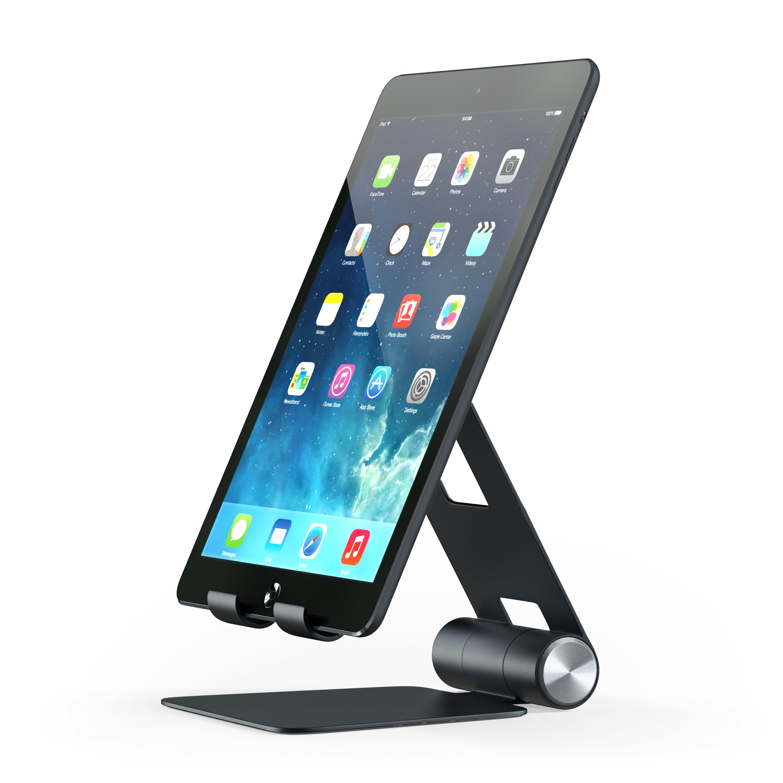 Satechi R1 Aluminum Multi-Angle Foldable Tablet Stand for iPad, iPad Pro, iPhone X, 8 Plus, 8, Samsung S8, MacBook 2015/2016, Microsoft Surface, Nintendo Switch and mo (Black)