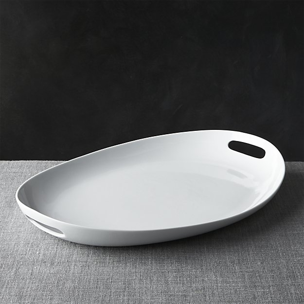 Oval Platter with Handles | Crate and Barrel