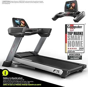 Sportstech F75 Cinta de Correr Profesional Plegable; Superficie de Carrera Grande de 1580x600mm; Pantalla Android 15.6; WiFi; USB; Inclinación 18%; Sistema de Amortiguación; Peso MAX Usuario 200Kg: Amazon.es: Deportes y aire libre