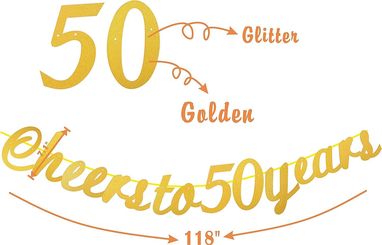 Amazon.com: 50 cumpleaños decoraciones de fiesta suministros ...