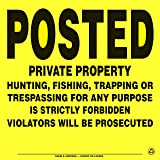 4 Pack Aluminum Posted Private Property Signs