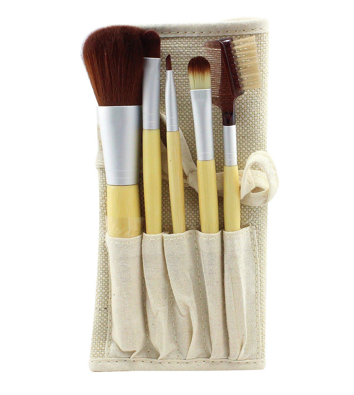 CALA Naturale Womens Make-Up 5pc. Bamboo Brush Set