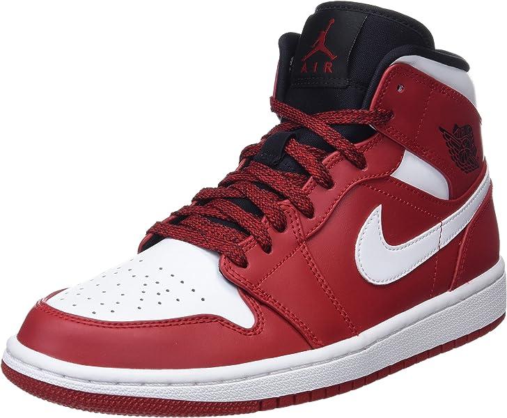 cdf32d0f6bb5 Nike 554724-605  Mens Air Jordan 1 Mid Gym Red White Black ...
