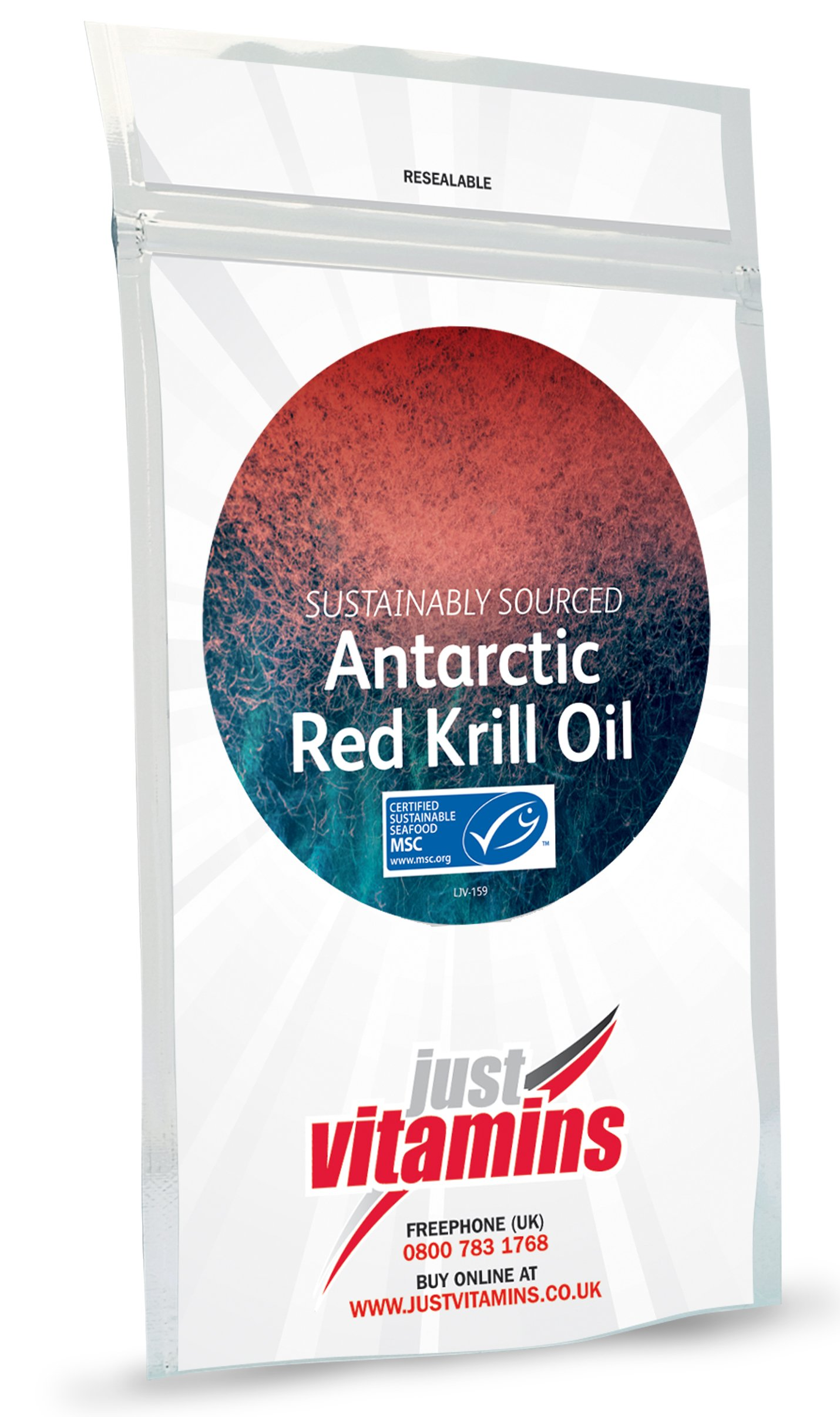 Just Vitamins Krill Oil 500mg 120 capsules by Just Vitamins