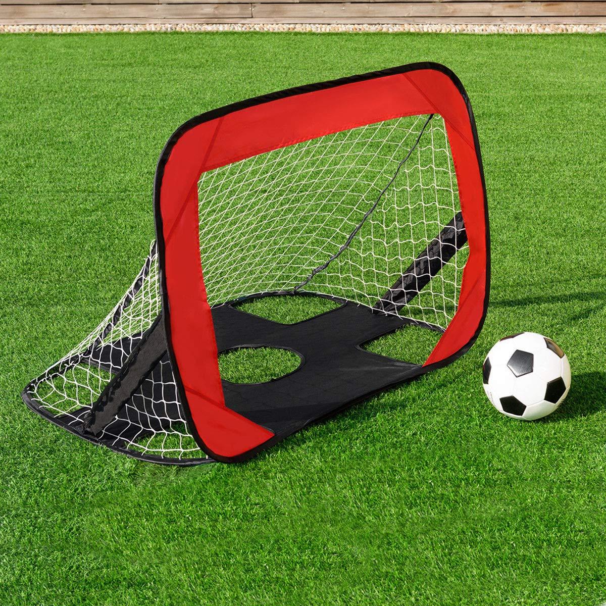 KCHEX>>ポータブル2イン1 スポーツ ポップアップサッカーゴールネット サッカーターゲット スポーツ キャリーバッグ付き オックスフォード生地素材で作られており、収納バッグが付属し、持ち運びが簡単です。 B07KXSH7R1, スポーツパラダイス:c9c704f3 --- zonespirits.xyz