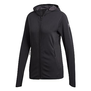 Adidas FL CC Hoodie - Chaqueta, Mujer, Gris(Carbon/Negro): Amazon.es: Deportes y aire libre