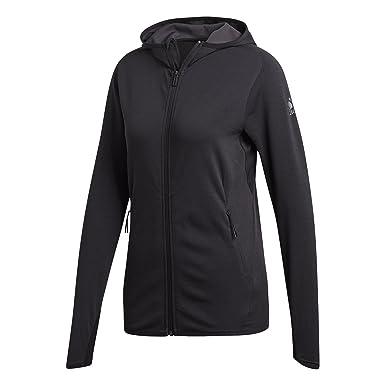 adidas Damen Fleece Climacool Kapuzen-Sweatshirt