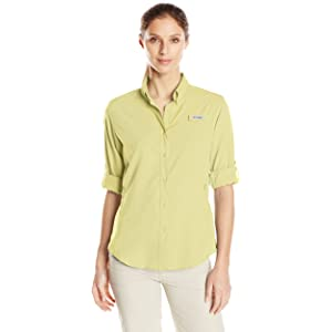 ede8760e4ad Columbia Women's PFG Tamiami II Long Sleeve Shirt, UV Sun Protection, Moisture  Wicking Fabric