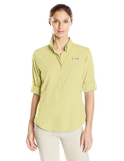 dbb00c6871d Amazon.com: Columbia Women's PFG Tamiami II Long Sleeve Shirt, UV Sun  Protection, Moisture Wicking Fabric: Clothing