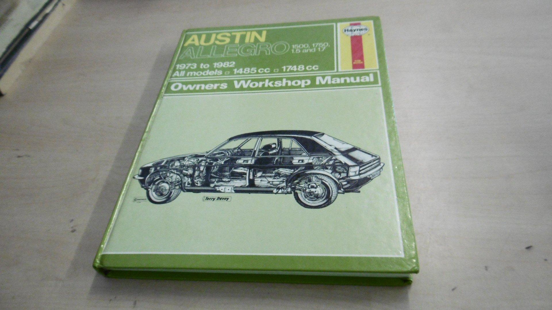 Austin Allegro 1500/1750 1973-82 Owner's Workshop Manual: J. H. Haynes,  B.L.Chalmers- Hunt: 9780856969423: Amazon.com: Books