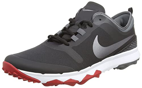 FI IMPACT 2 - Golfschuh - black/metallic dark grey/gym red Rabatt-Spielraum PX83kvnGoi