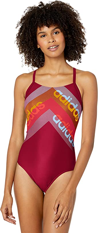 escarcha doble Buena suerte  Amazon.com: adidas Women's Fit 1 Piece Swimsuit: Clothing