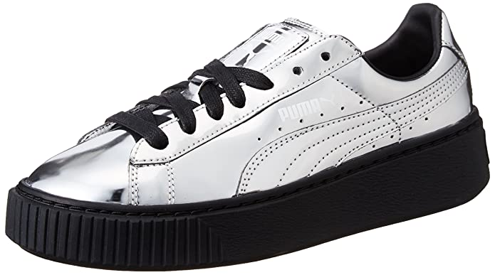 Puma Basket Creepers Metallic W shoes silver metallic
