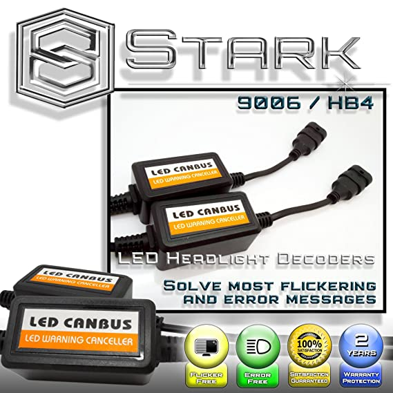 Amazon.com: PAIR LED Conversion Kit Headlight Canbus Error Free Anti Flickering Resistor Decoder - H13 9008: Automotive