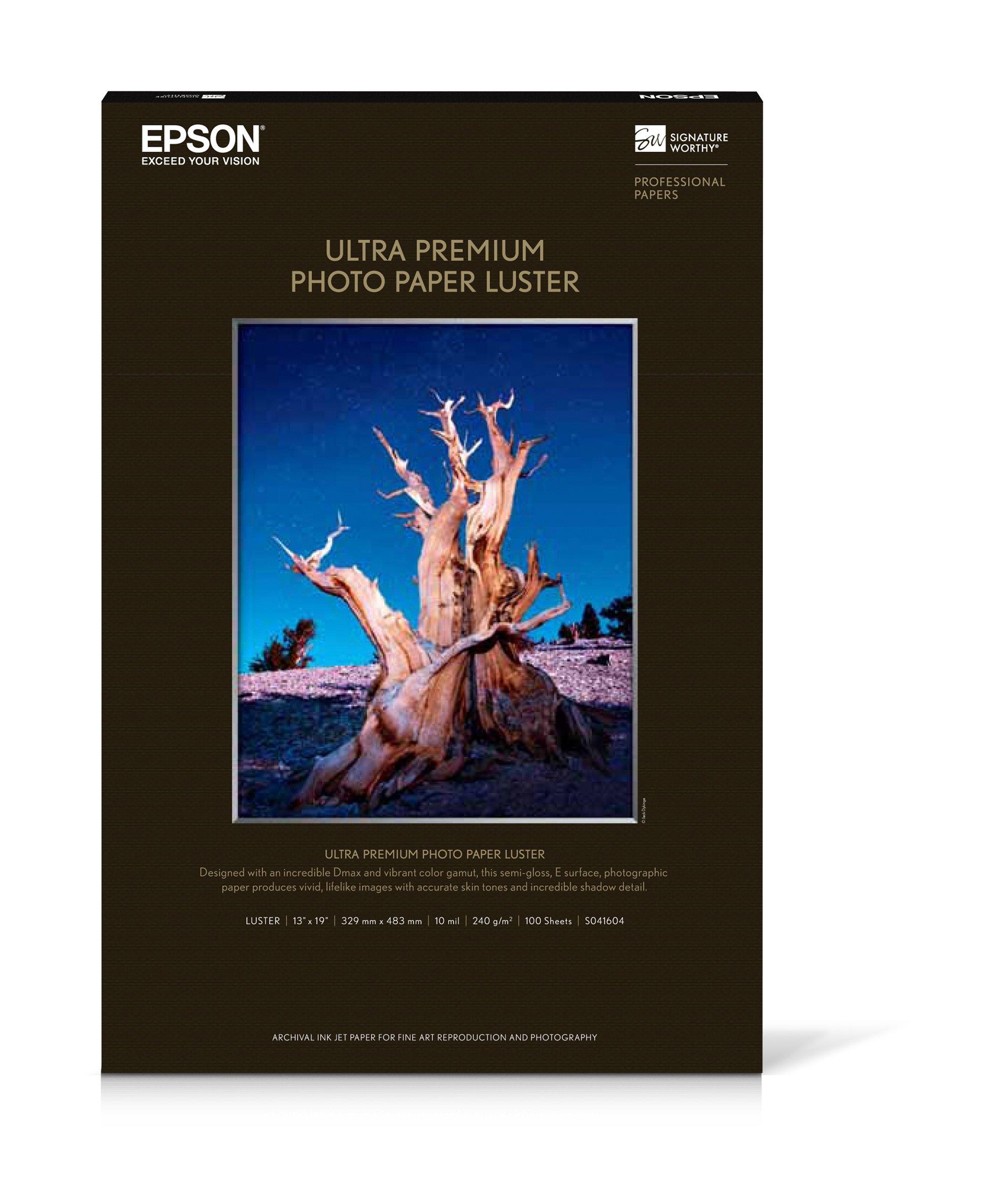 S041604 - Epson Premium Luster Photo Paper 13'' x 19'' (100 Sheets)
