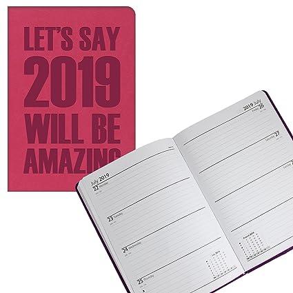 Tallon 2158 - Agenda semanal 2019 con diseño de eslogan en ...