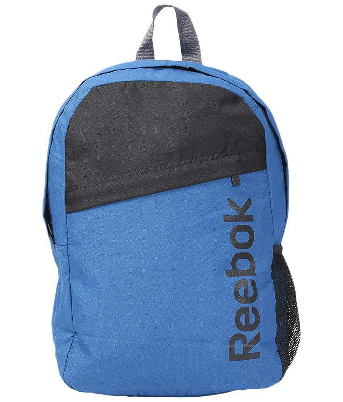 Copiar tornillo abolir  Buy Reebok Blue & Black Unisex Backpack (Z98795) at Amazon.in