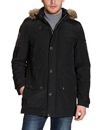 to buy best sale new lifestyle Tom Tailor Mens Parka with Hood, Black, Small: Amazon.co.uk ...