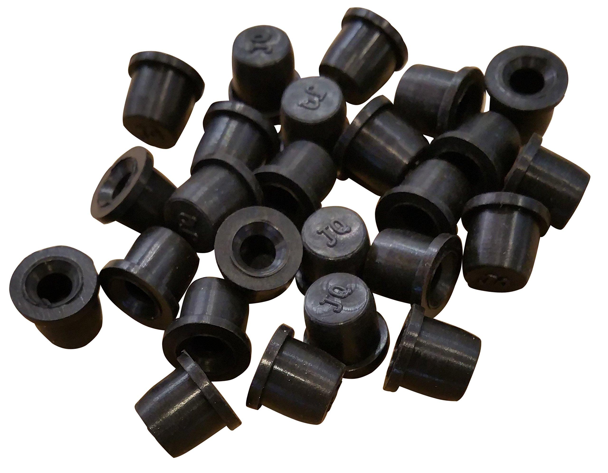 (25 Pack) Brake Bleeder Screw Caps Grease Zerk Fitting Cap Rubber Dust Cover