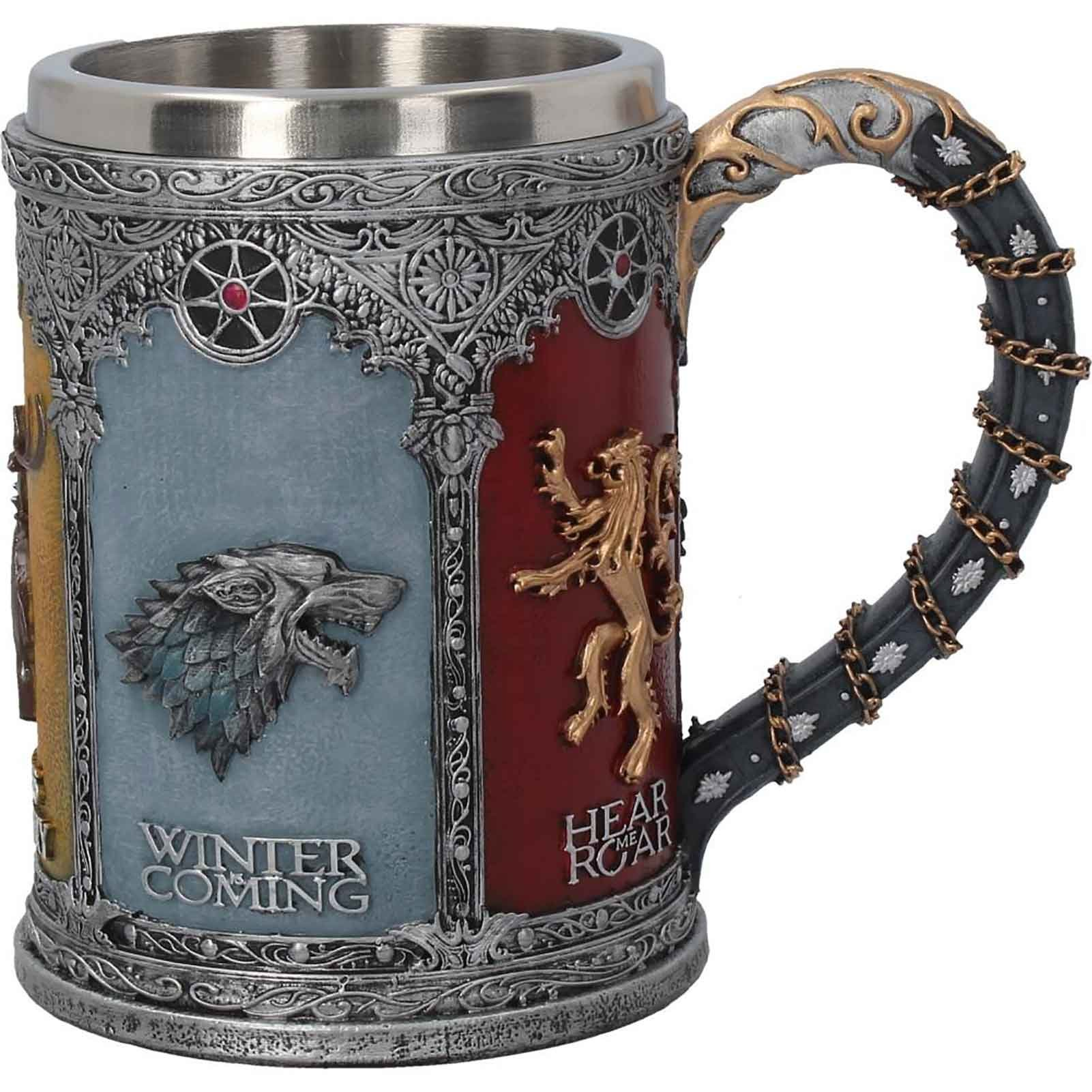 Game Of Thrones Tankard House Sigil Crests Official Hand Painted